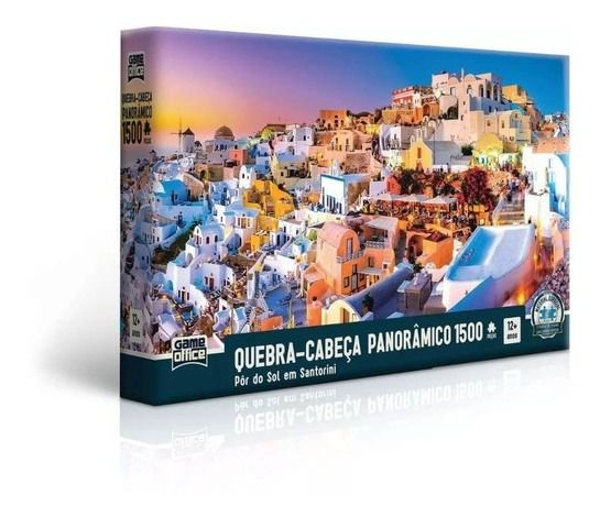 Quebra Cabeça Pôr Do Sol Em Santorini 1500 Peças Toyster