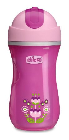 Copo Sport Cup 266ml - (14m+) - Menina - Chicco (flores)