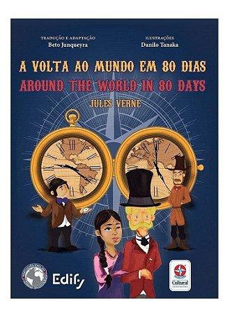 Livro A Volta ao Mundo em 80 dias  Bilíngue inglês  Estrela