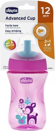 Copo De Treinamento 266ml 12m+ Advanced Cup  Chicco Magenta