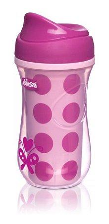 Copo Para Bebes Active Cup Rosa Poá 14m+ Chicco  Borboleta