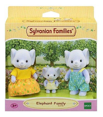 Sylvanian Families Conjunto Familia Dos Elefantes Epoch 5376