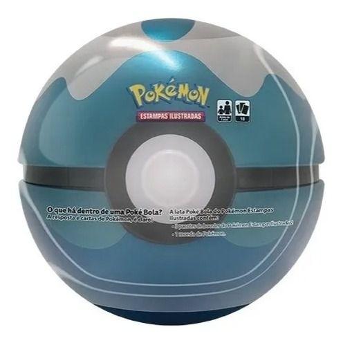Pokémon Lata Poké Bola Mergulho Azul - Copag