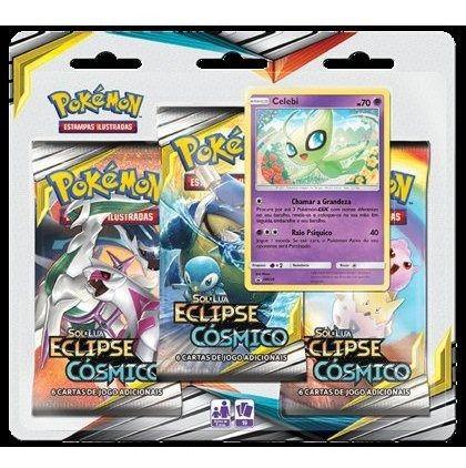 Pokemon Sl12 Blister Triplo Eclipse Cosmico Celebi