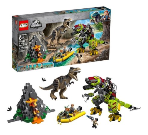 Lego Jurassic World Combate T.rex Vs Robo Dinossauro 75938