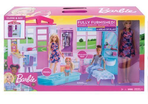 Barbie Casa Glam Com Boneca - Mattel Fxg55