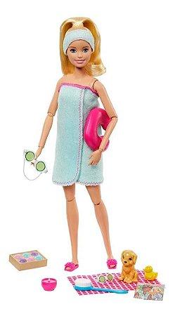 Barbie Dia No Spa Com Pet