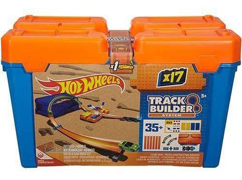 Hot Wheels  Track Builder Kit Completo Mattel Box Azul