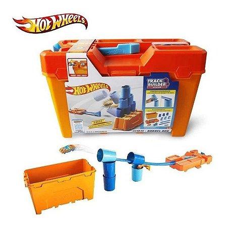 Hot Wheels Track Builder Kit Completo  Mattel Box Laranja