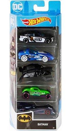 Hot Wheels Conjunto Com 5 Carrinhos Batman GHP54