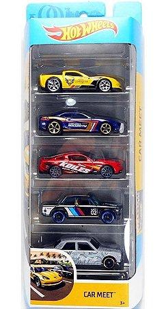 Hot Wheels Conjunto Com 5 Carrinhos Car Meet GHP52