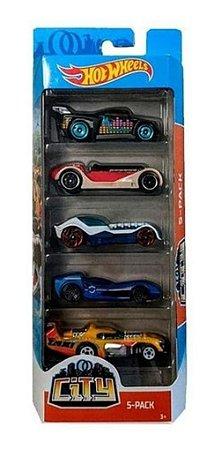Hot Wheels Pacote Com 5 Carrinhos City GHP56 Mattel