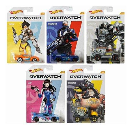 Kit Com 5 Miniaturas de Carrinhos Overwatch  Hot Wheels
