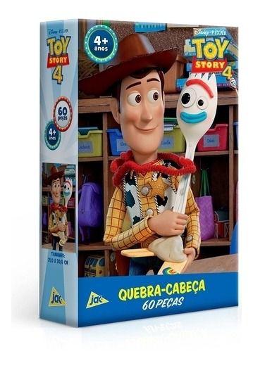 Quebra cabeça 60 Peças Toy Story 4 Woody E Garfinho