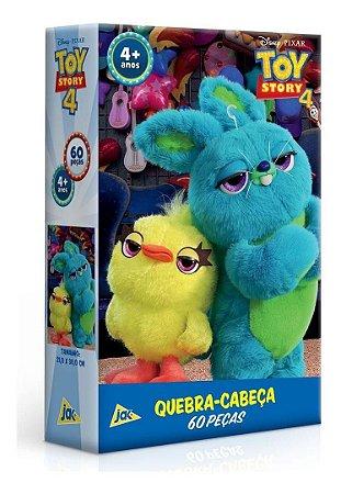 Quebra Cabeça 60 Peças  Toy Story 4 Ducky E Buny