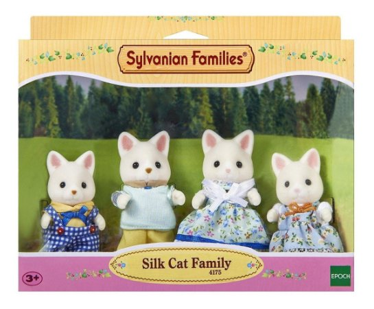 Sylvanian Families Familia Dos Gatos De Seda Da Epoch 4175