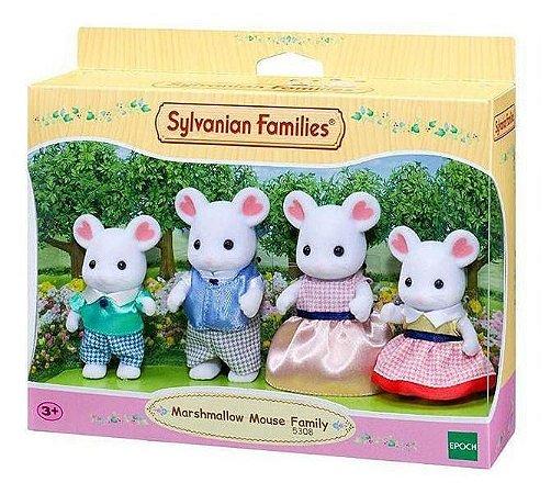 Sylvanian Families Família Ratos Marshmallow Epoch 5308