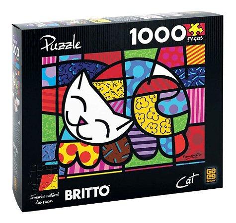 Quebra-cabeça Puzzle P1000 Peças Romero Britto - Cat Grow