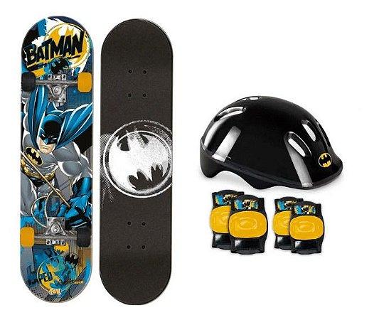 Skate Batman Completo Com Kit De Proteção