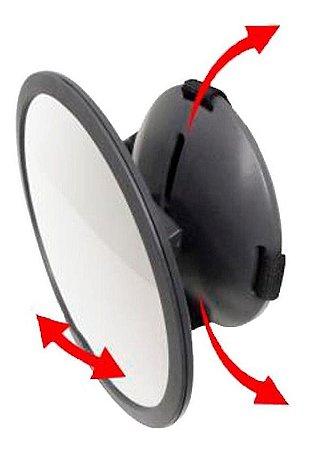 Espelho Retrovisor Redondo Round Para Carro Clingo C02203