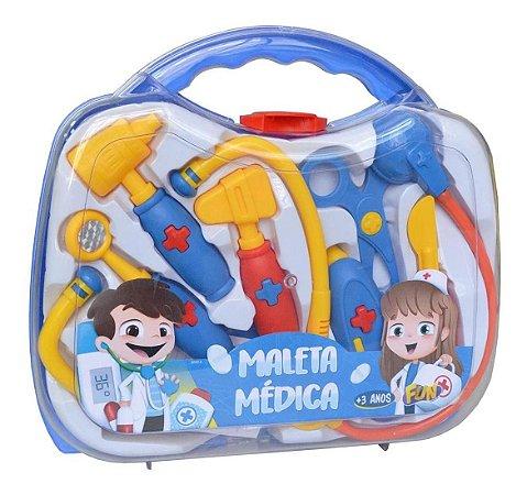 Kit Maleta Médica Infantil Mini Doutor Fun 8 Acessórios