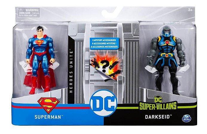Figuras De 10 Cm Com Vilão  Dc Superman/ Darkseid