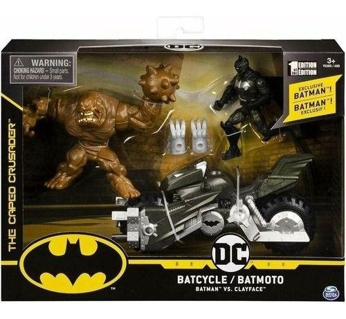 Veículo Batciclo E Batman Vs Cara De Barro Sunny Comics 2184