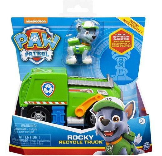 Patrulha Canina Rocky E Veiculo Basico Recycle Truck 1389
