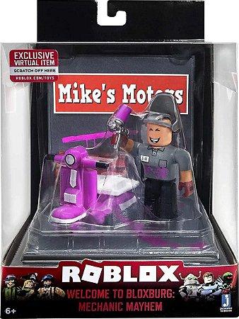 Boneco Roblox Mini Playset Welcome Bloxburg Mechanic Mayhem