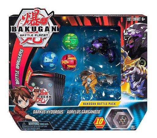 Bakugan 5 Esferas Battle Pack Hydorous E Garganoid Sunny