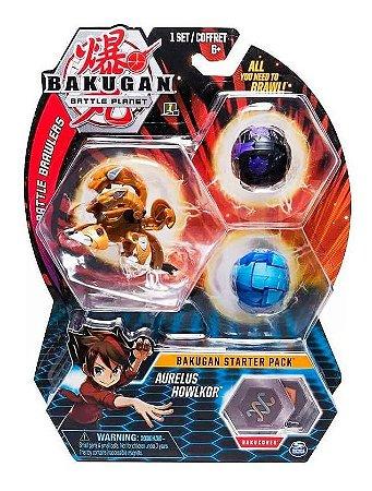 Bakugan Battle Planet Starter Pack Aurelus Howlkor Ultra