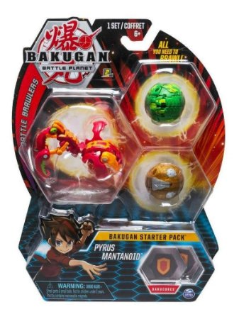Bakugan Battle Planet Starter Pack Pyrus  Mantanoid Sunny
