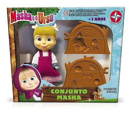 Conjunto Masha Da Masha E O Urso Com Massinha De Modelar