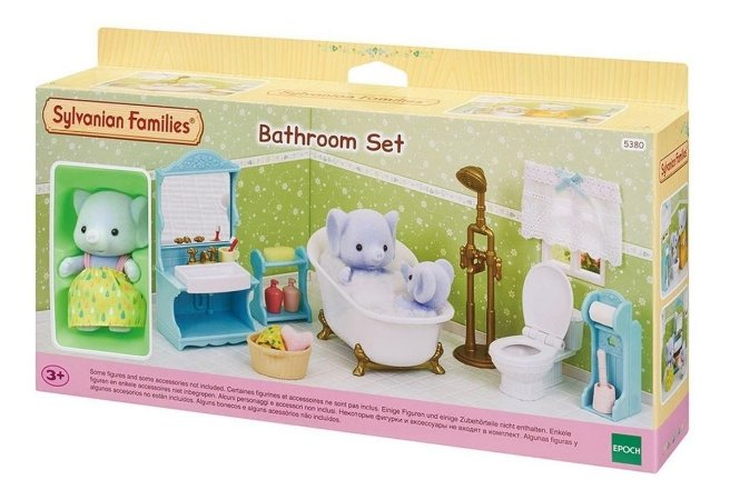 Sylvanian Families Toalete E Banho Com Irmã Elefante 5380