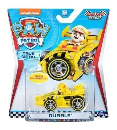 Patrulha Canina - Veiculo Die Cast Rescue Racer - Rubble