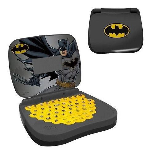 Laptop Cinza Infantil Bilíngue Dc Batman  Candide 9041