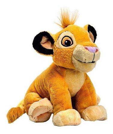 Pelúcia Simba  30cm  Disney Clássicos Antialérgico Fun