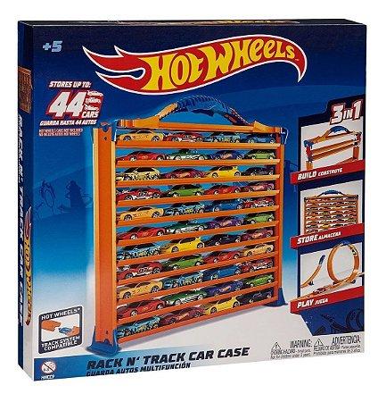 Porta Carrinhos Pista Hot Wheels 44 Carrinhos 3 Em 1