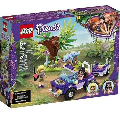 Lego Friends Resgate Do Filhote De Elefante Na Selva 41421