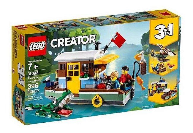 Lego Creator 31093 Casa Flutuante Margem Do Rio 396 Pecas