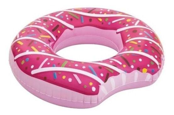 Boia Praia Piscina Rosquinha Donut Inflável Mor Rosa