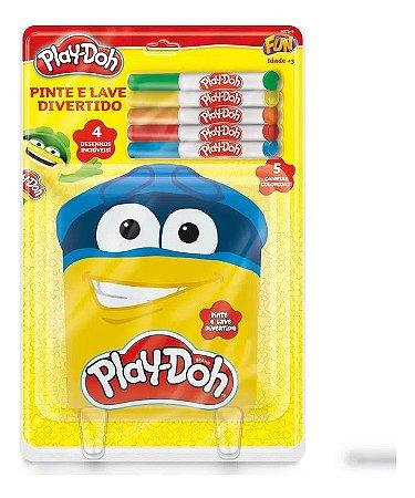 Play-Doh Fun Livro Pinte E Lave Divertido - 8075