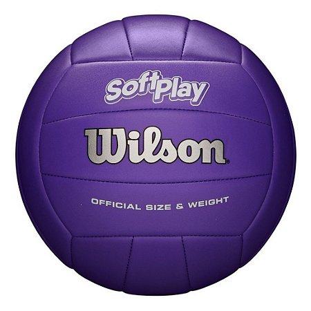 Bola De Vôlei Wilson Soft Play Maciez & Toque Aveludado Roxa