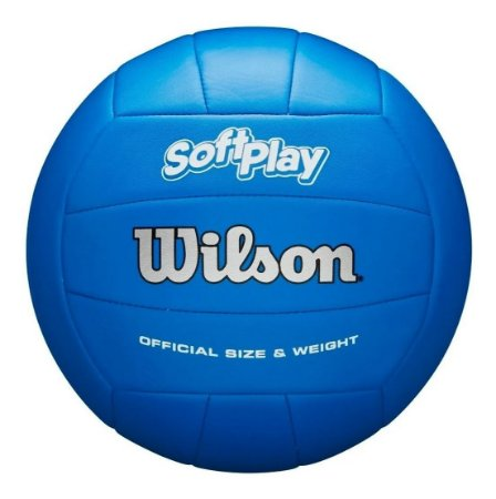 Bola De Vôlei Wilson Soft Play/  Maciez E Toque Aveludado Az