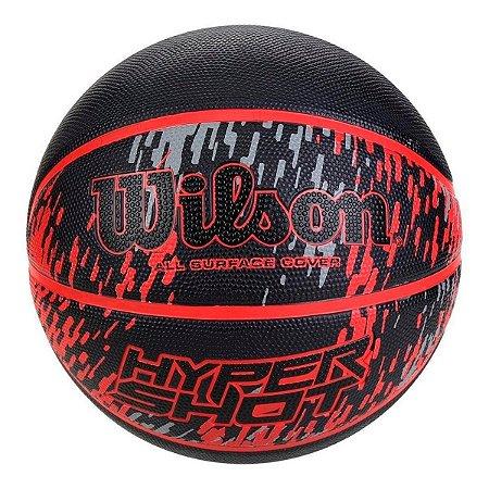 Bola de  Basquete Hyper Shot Wilson Vermelha e Preta