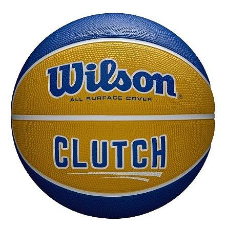 Bola Basquete Wilson Clutch Amarelo E Azul