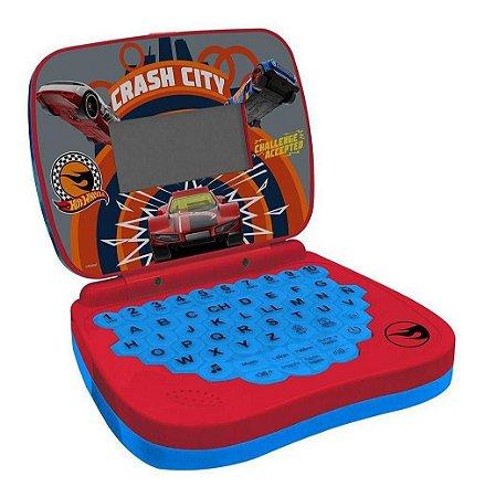 Laptop Didático Infantil Hot Wheels Bilíngue Candide 4533