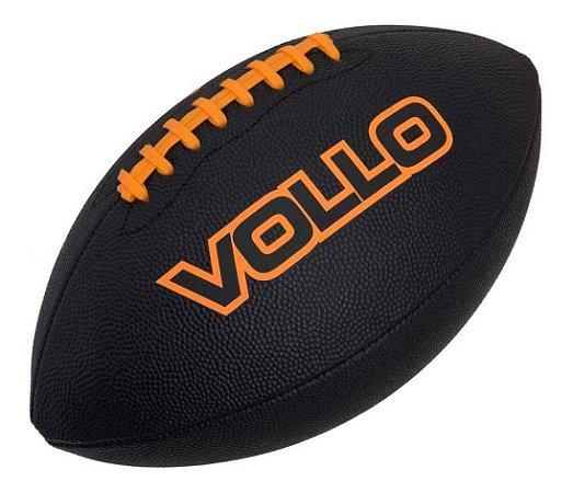 Bola De Futebol Americano Preta Profissional 9 Vollo Vf002