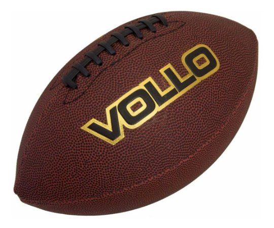 Bola De Futebol Americano Marrom   Vollo Vf001