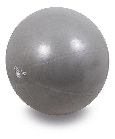 Bola De Ginástica  Gym Ball 65 Cm Cinza C/ Bomba - Vollo